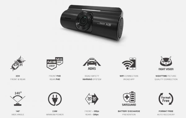 Iroad X5 Dual Dashcam 3