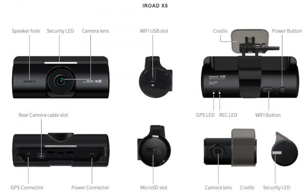 Iroad X5 Dual Dashcam 4