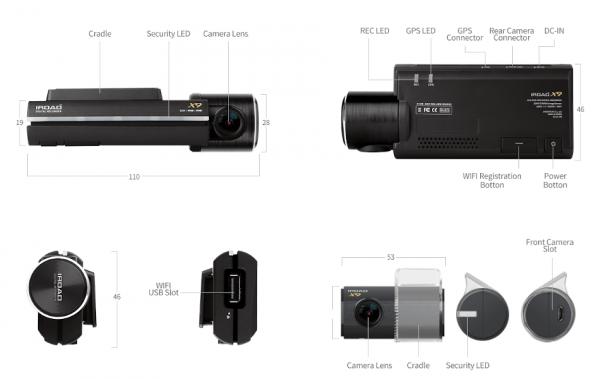Iroad X9 Dual Dashcam 6